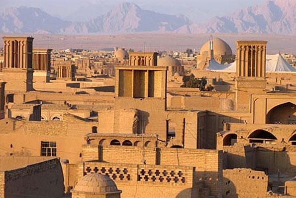 یزد - بادگیرها در شهر یزد