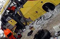 تصویر اتوبوس واژگون شده ایرانیها در ترکیه