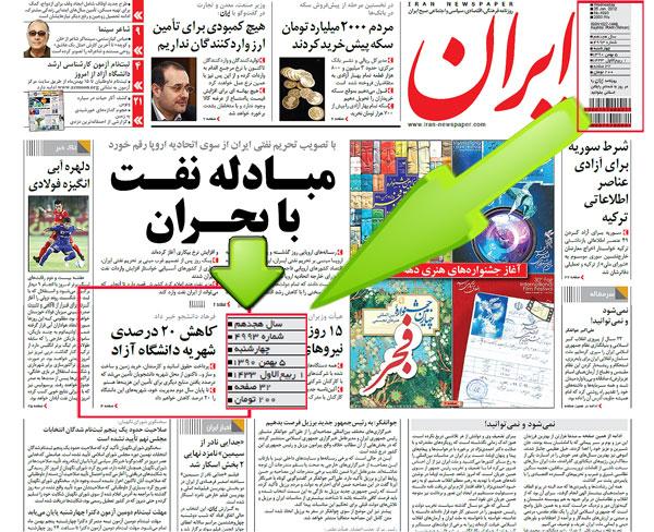 فرهاد دانشجو در بهمن ماه از کاهش 20 درصدی شهریه دانشگاه آزاد خبر داده بود. (روزنامه ایران)