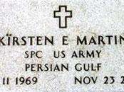 نام «خلیج فارس» بر سنگ قبر سربازان آمریکایی