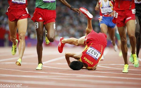 """سقوط """"آلوارو رودریگز"""" اسپانیایی در دور اول یک هزار و 500 متری دو میدانی در المپیک لندن"""