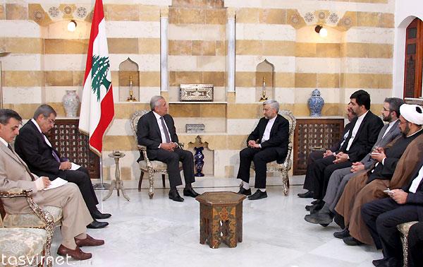 دیدار سعید جلیلی با ميشل سليمان رئيس جمهور لبنان