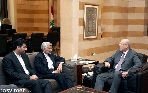 دیدار سعید جلیلی با نجیب میقاتی نخست وزیر لبنان