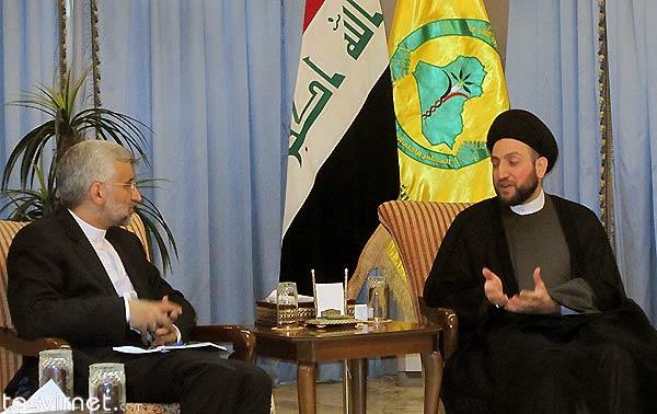 دیدار سعید جلیلی با سید عمار حکیم رئیس مجلس اعلای اسلامی عراق