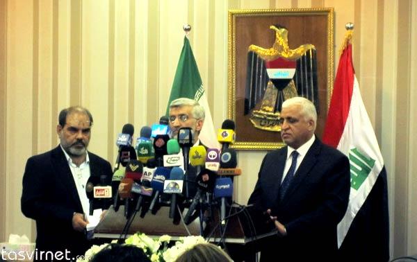 سعید جلیلی و فالح فياض مشاور امنيت ملی عراق در کنفرانس خبری به سوالات خبرنگاران پاسخ دادند