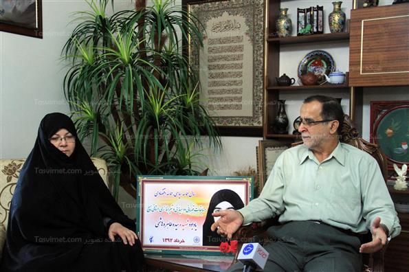دیدار اهالی رسانه با خانواده شهید سید طاهره هاشمی