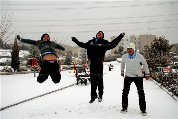 بارش نخستین برف زمستانی در تهران