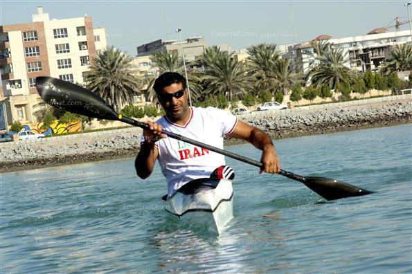 تمرین اسلام جاهدی قایقران معلول