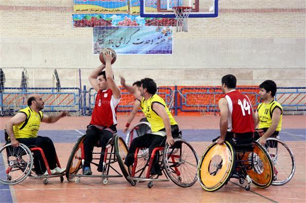 مرحله فینال رقابت های لیگ دسته دو بسکتبال با ویلچر