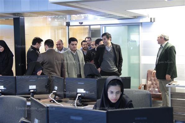 بازدید کمیسون عمران شورای شهر ازاتاق کنترل توحید