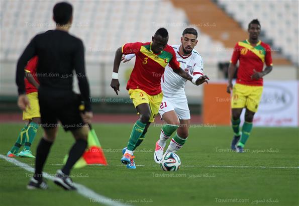 دیدار تیمهای فوتبال ایران و گینه