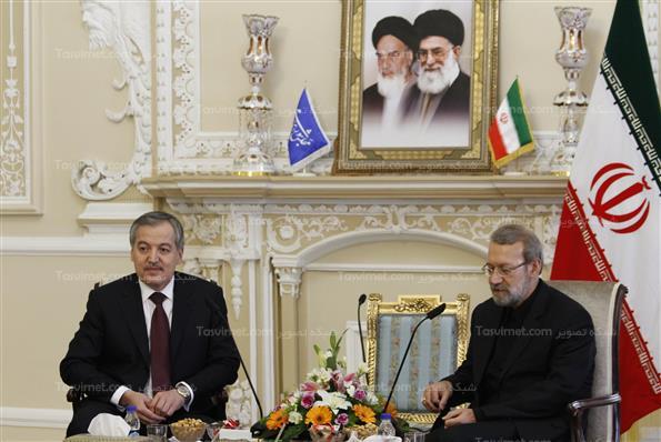 تی وی ورزش تاجیکستان دیدار علی لاریجانی با وزیر امورخارجه تاجیکستان