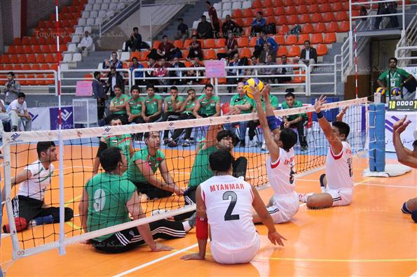 دومین روز مسابقات والیبال نشسته قهرمانی آسیا