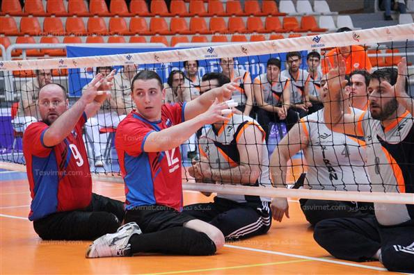 دیدار والیبال نشسته دوستانه ایران و روسیه