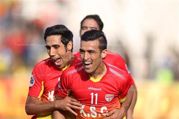 دیدار تیم های فوتبال فولاد خوزستان و الجیش قطر