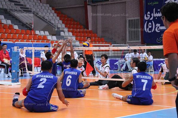 چهارمین روز مسابقات والیبال نشسته قهرمانی آسیا