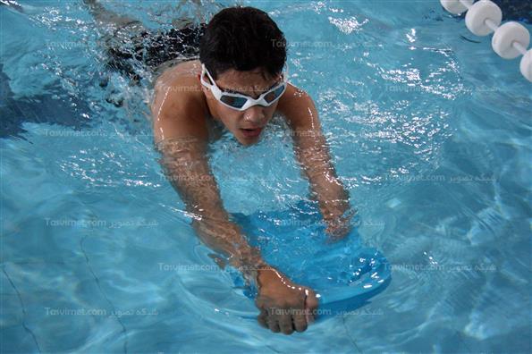 تمرینات تیم ملی شنای جانبازان و معلولین