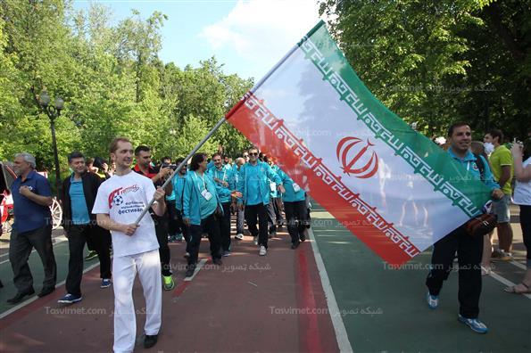 مراسم ورود و افتتاحیه جام جهانی فوتبال هنرمندان