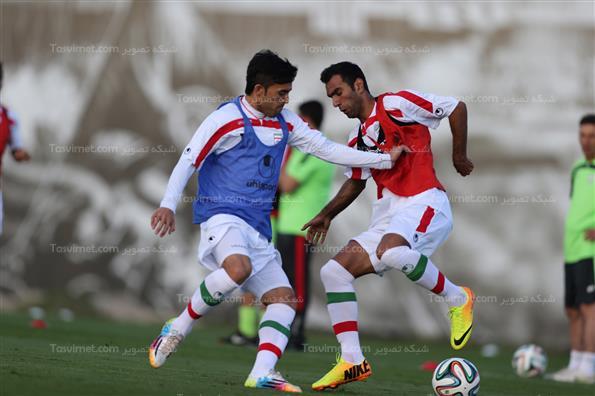تمرین تیم ملی فوتبال در سائوپائولو