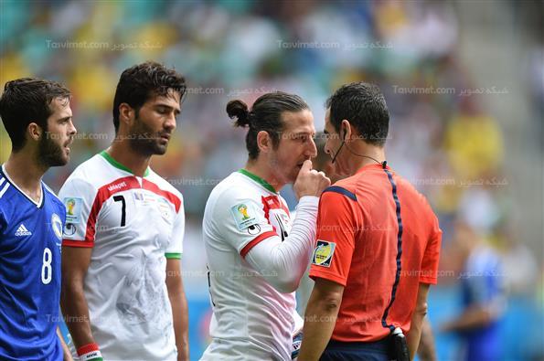 دیدار تیم فوتبال ایران وبوسنی-جام جهانی برزیل2014
