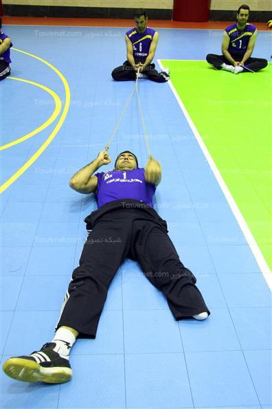 آخرین دور تمرینات تیم ملی والیبال نشسته
