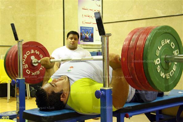تمرینات تیم ملی وزنه برداری جانبازان و معلولین