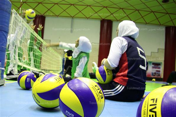 تمرینات تیم ملی والیبال نشسته بانوان