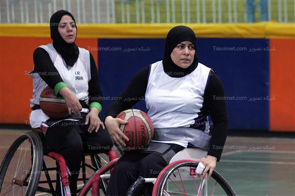 تمرینات تیم ملی بسکتبال با ویلچر بانوان
