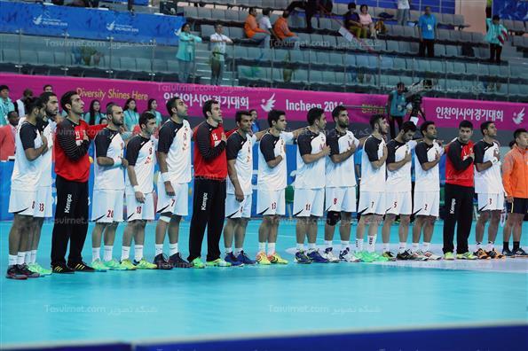 دیدار تیم های هندبال ایران و کویت