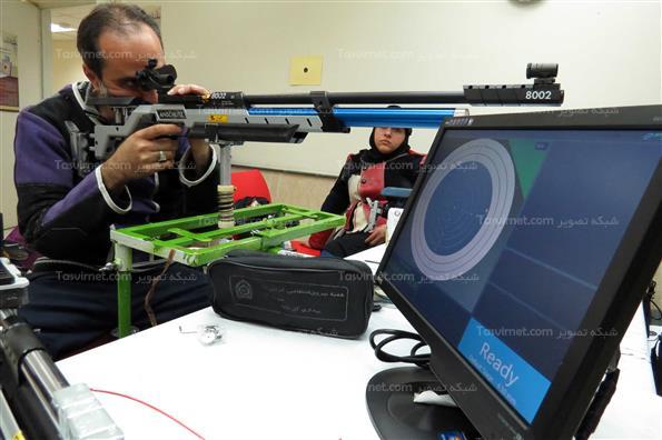 تمرینات تیم ملی تیراندازی جانبازان و معلولان