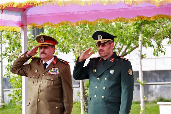 مراسم استقبال رسمی از وزیر دفاع سوریه
