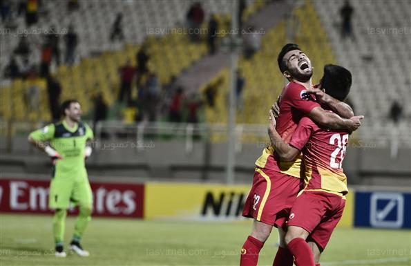 دیدار تیم های فولاد خوزستان و لوکوموتیو تاشکند