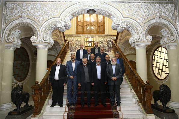 دیدار دبیرکل جنبش جهاد اسلامی فلسطین با رئیس مجلس