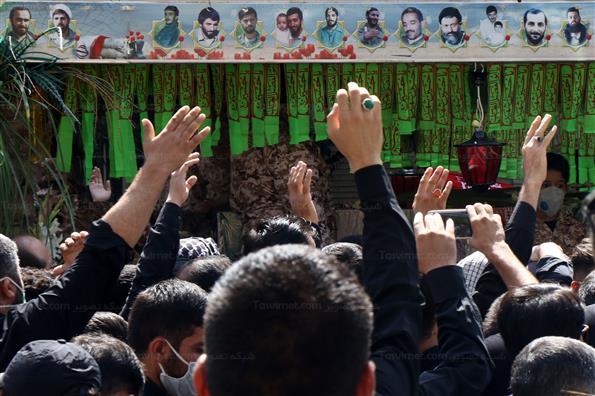 تشییع پیکر شهید مدافع حرم جواد الله کرم