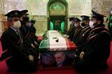 مراسم خاکسپاری دانشمند شهید محسن فخری زاده