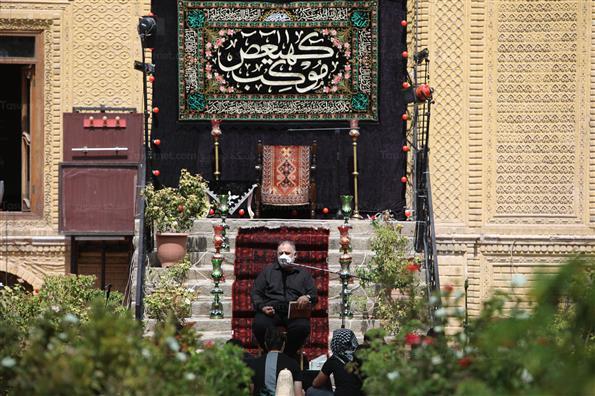 مراسم عزاداری ظهر تاسوعا در خانه مداحان تهران
