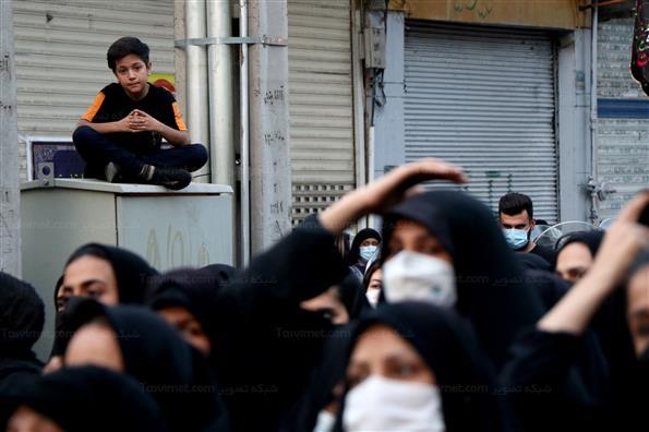 مراسم عزاداری ظهر عاشورا در مناطق مختلف تهران