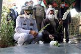 آیین تجدید میثاق مسئولان سازمان عقیدتی سیاسی ارتش با شهدا