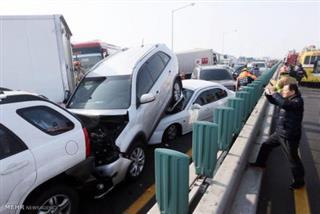 سپیده عباسقلی پور, برخورد 65 خودرو در آزاد راه کرج- قزوین