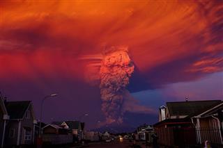 بهروز  خانی ملاحاجلو, فوران آتش فشان کالبوکوی شیلی.